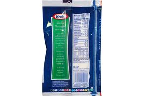 Kraft Slim Cut Mozzarella Natural Cheese Slices  7 Oz Film Wrapped (18 Slices)