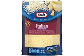 Kraft Italian Five Cheese Finely Shredded Natural Cheese 8Oz Bag