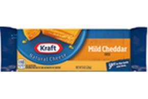 Kraft Mild Cheddar Natural Cheese Block  8 Oz  Vacuum Packed