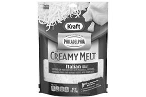 Kraft Italian Style Five Cheese With A Touch Of Philadelphia  Shredded Natural Cheese  8Oz Bag