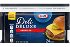 Kraft Deli Deluxe American Cheese Slices 16Oz 24 Ct Bag