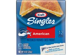 Kraft Singles American Cheese Slices 8 Oz Wrapped (12 Slices)