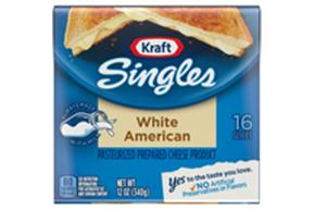 Kraft Singles White American Cheese Slices 12 Oz Wrapped (16 Slices)
