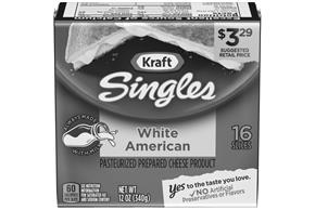 Kraft Singles White American Cheese Slices 12 Oz (16 Count)