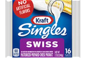 Kraft Singles Swiss Cheese Slices 12 Oz Wrapped (16 Slices)