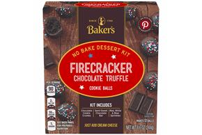 Baker's Cookie Ball Dessert Kits, Firecracker Chocolate Truffle, 8.6Oz, Makes 12 Cookie Balls