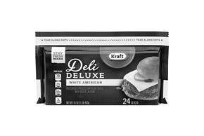 Kraft Deli Deluxe White American Cheese Slices 16 Oz Package (24 Slices)