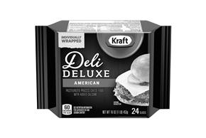 Kraft Deli Deluxe American Cheese Slices 16Oz 24 Ct Pack