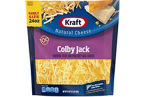 Kraft Colby & Monterey Jack Shredded Natural Cheese  24Oz Bag