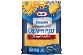 Kraft Sharp Cheddar With A Touch Of Philadelphia Shredded Natural Cheese  8Oz Bag