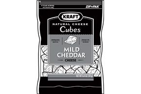Kraft Mild Cheddar Natural Cheese Cubes  6.4Oz Bag