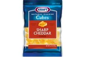 Kraft Sharp Cheddar Natural Cheese Cubes  6.4Oz Bag