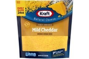 Kraft Mild Cheddar Family Size Finely Shredded Natural Cheese  24Oz Bag