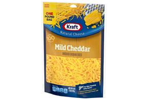 Kraft Mild Cheddar Shredded Natural Cheese 16 Oz Bag