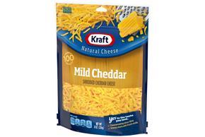 Kraft Mild Cheddar Shredded Natural Cheese 8 Oz Bag
