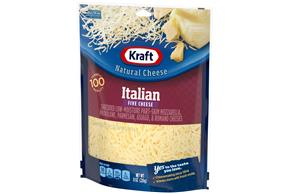Kraft Italian Five Cheese Blend Shredded Natural Cheese 8 Oz Bag