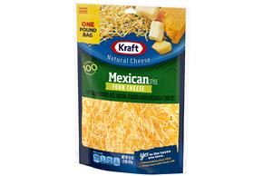 Kraft Mexican Four Cheese Shredded Natural Cheese 16 Oz Bag