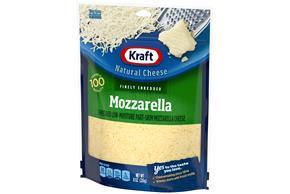 Kraft Mozzarella Finely Shredded Natural Cheese 8 Oz Bag