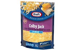 Kraft 2% Milk Colby & Monterey Jack Cheese Shredded Natural Cheese 7Oz Bag
