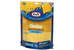 Kraft Fat Free Cheddar Cheese Shredded Natural Cheese 7 Oz Bag