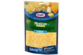 Kraft 2% Milk Mexican Style Four Cheese Finely Shredded Natural Cheese 14Oz Bag