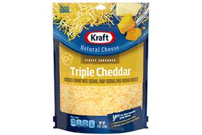 Kraft Triple Cheddar Cheese Blend Shredded Natural Cheese 8 Oz Bag