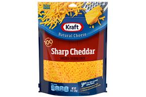 Kraft Sharp Cheddar Shredded Natural Cheese 8 Oz Bag
