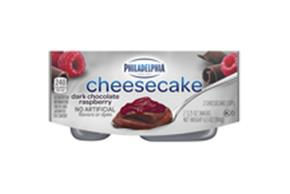 Philadelphia Dark Chocolate Raspberry Cheesecake Cups, 2 - 3.25Oz Cups