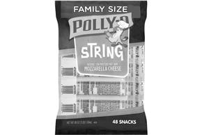 Polly-O Family Size Mozzarella String Cheese 48 Oz Bag (48 Count)