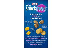 Kraft Trios Snackfuns Cookies & Crackers 5.1 Oz Carton 3-Count