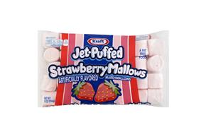 Jet-Puffed Strawberry Mallows Flavored Marshmallows 8Oz Bag