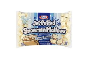 Jet-Puffed Snowman Mallows French Vanilla Seasonal Marshmallows 8 oz Bag
