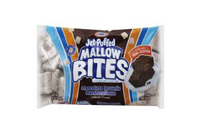 Jet-Puffed Mallow Bites Chocolate Brownie Flavored Marshmallows 8Oz Bag