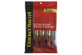 Cracker Barrel Extra Sharp White Cheddar Cheese Snacks 8 Ct Bag