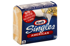 Kraft Processed Cheese-Slices Individual Wrap
