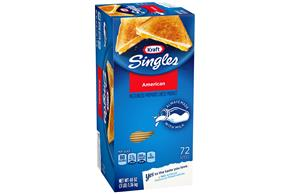 Kraft Singles American Cheese Slices 48 Oz Box (72 Slices)