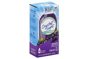 Crystal Light with Caffeine Grape On the Go Drink Mix 10-0.11 oz. Packets