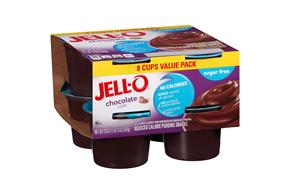 Jell-O Pudding Ready To Eat Chocolate Sugar Free 8 Ct Cups