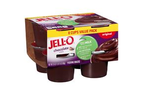 Jell-O Pudding Ready To Eat Chocolate 8 Ct Cups