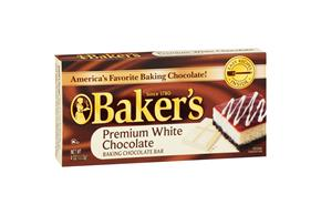Baker's Premium White Chocolate Baking Ingredients 4Oz.