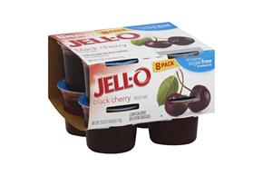 Jell-O Gelatin Ready To Eat Black Cherry Sugar Free 8 Ct Cups
