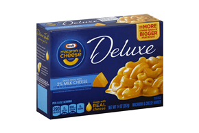 Kraft Deluxe Macaroni & Cheese Dinner Sauce Made with 2% Milk Cheese 14 oz. Box
