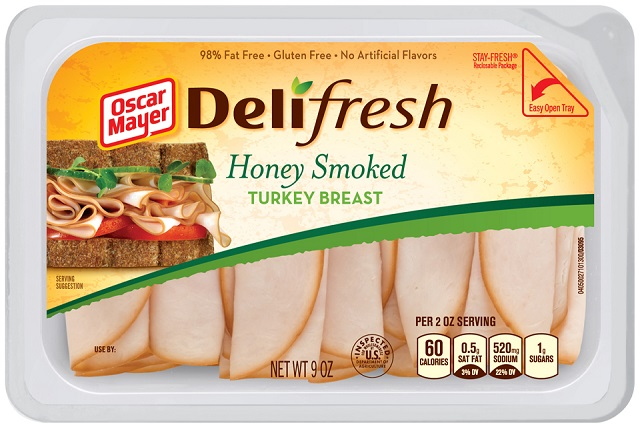 Oscar Mayer Deli Fresh Honey Smoked Turkey 9Oz