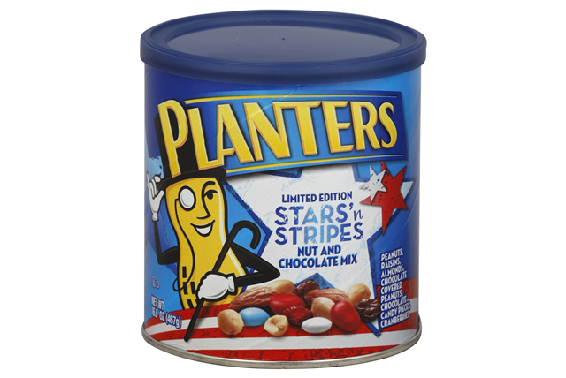 Planters Limited Edition Stars 'n Stripes Nut and Chocolate Mix 16.5 oz. Canister