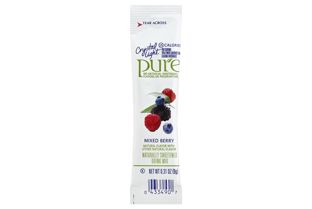 CRYSTAL LIGHT 2.17 OZ PURE SOFT DRINK-POWDERED  MIXED BERRY 7 BOX/CARTON INNER PACK