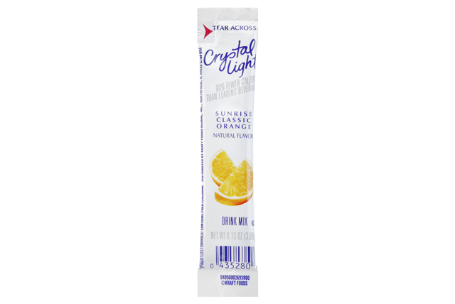 Crystal Light Classic Orange On the Go Drink Mix 10-0.13 oz. Packets