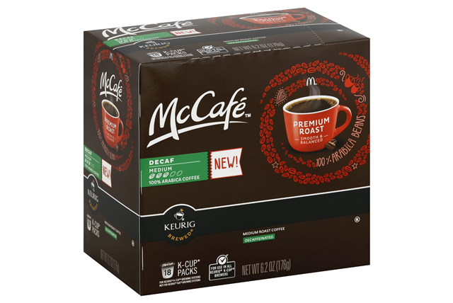 McCafe(r) Decaf Premium Roast Coffee K-Cup(r) Packs 18 ct Box
