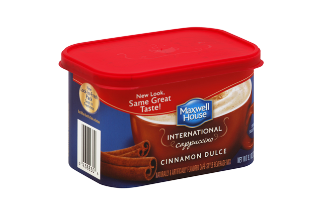 Maxwell House International Cinnamon Dulce Cappuccino 9.1 oz Canister