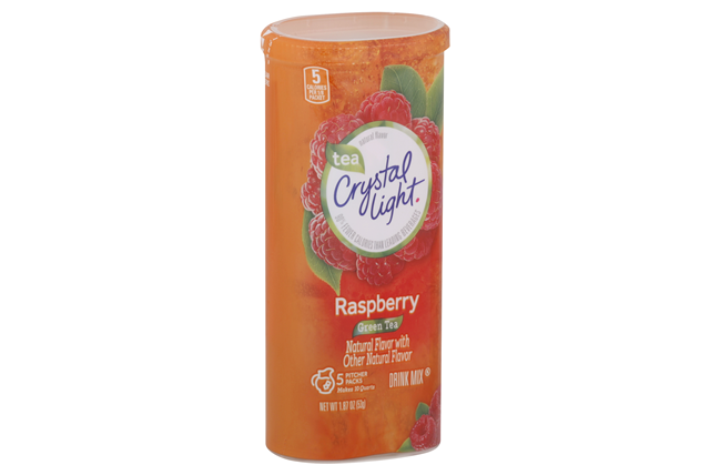 CRYSTAL LIGHT MULTISERVE Green Tea Raspberry  Sugar Free 1.87 oz. Packet