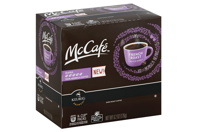 McCafe(r) French Roast Coffee K-Cup(r) Packs 18 ct Box